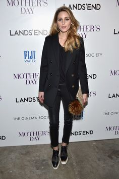 "Olivia Palermo attends The Cinema Society with Lands' End screening of Open Road Films' ""Mother's Day"" at Metrograph on April 28, 2016 in New York City."