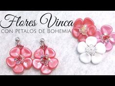 Seed Bead Tutorials ~ Vinca Flowers with petals and crystals