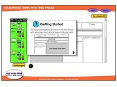 ReadWriteThink Printing Press - use to publish your writing pieces with a nice looking page layout.