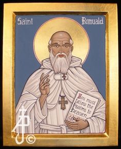 Original icon of St. Romuald, commissioned by a client in Calgary AB. A portfolio of icons by Andre Prevost located in the Calgary area