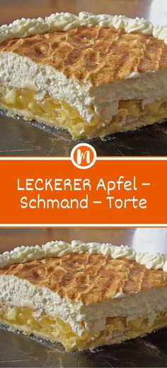 DELICIOUS apple - sour cream - cake- LECKERER Apfel – Schmand – Torte Ingredients for the dough: 175 g butter 160 g sugar 200 g flour 1 tsp baking powder 1 egg (s) for the filling: 4 apples (boskoop) - Cupcake Recipes For Kids, Donut Recipes, Dessert Recipes, Simple Muffin Recipe, Healthy Muffin Recipes, Apple Sour Cream Cake, Apple Cake, Chocolate Recipes, Smoothie Recipes
