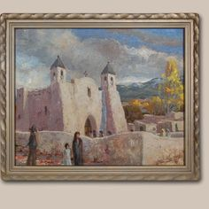 "San Francisco de Assisi Mission Church at Ranchos de Taos by Carl Von Hassler (1887-1969)      Category: Paintings     Origin: Anglo-American or European-American Artists (non-Native American)     Medium: oil on canvas     Size: 15-1/2"" x 19-3/4"" image;     19"" x 23-1/4"" framed     Item # C3654F."