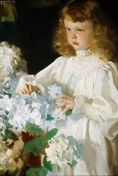 Close-up of Helen Sears Sargent | Helen Sears  1895 John Singer Sargent…