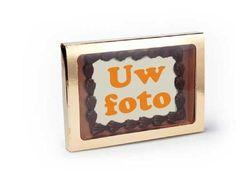 Choc. Wenskaart Eigen Ontwerp. Stuur uw persoonlijke boodschap eens in chocolade. Maak de foto naar eigen ontwerp. Het geheel word verpakt in mooie verpakking. #foto #persoonlijk #chocolade