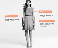 Clothing Size Charts & Measurement Guide For Women, Men & Children - J.Crew
