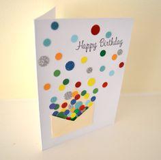 Confetti & Mini Envelope Happy Birthday card