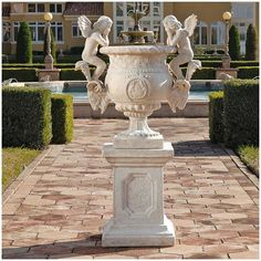 Versailles Cherub Urn With Plinth