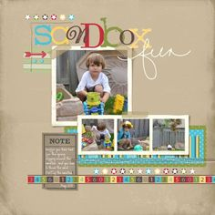 Awesome digital scrapbook page with my favorite software!