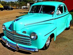 Don O'Brien's photo of a 1946 Ford. I love the color of this restored car!  CCl  Attribution 2.0 Generic (CC BY 2.0)