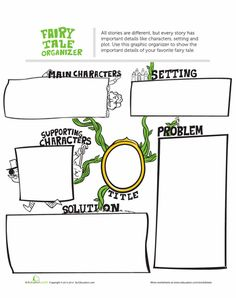 Worksheets: Fairy Tale Graphic Organizer