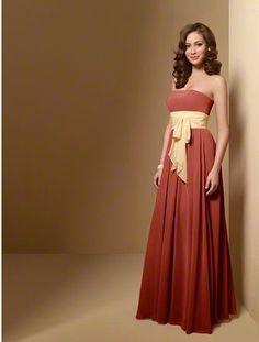#AlfredAngelo Bridesmaid Style 7017 in Burnt Orange
