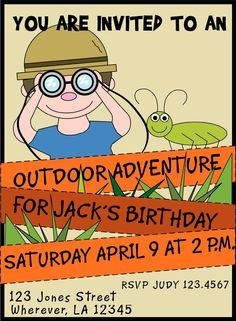 Invitation idea for a lil boy birthday