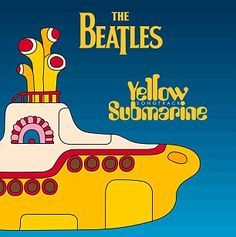 The cover of the soundtrack album from the Beatles film Yellow Submarine
