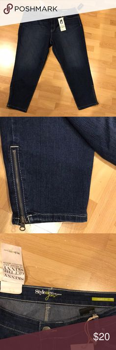 NWT PLUS SKINNY JEANS W/ ZIPPER DETAIL AT ANKLE! Trendy awesome jeans. Never worn with all tags attached. Great zipper detail on both ankles. Stretchy comfortable curvy fit material. Skinny slim leg. Details in photos Style & Co Jeans Skinny