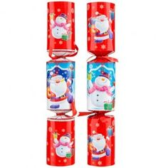 A six-pack of novelty Christmas crackers - what will you find inside? 26x14 cm