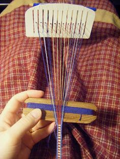 Milk carton heddle - weaving