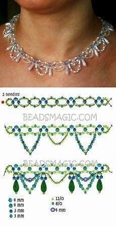 Free Beaded Jewelry Patterns And Designs against Handmade Beaded Jewelry Designs with Definition For Jewellery after Jewellery Exchange Yonge And Dundas Beaded Necklace Patterns, Seed Bead Patterns, Art Patterns, Beaded Necklaces, Loom Patterns, Embroidery Patterns, Knitting Patterns, Mosaic Patterns, Beaded Bead
