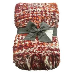 """Chunky Knit Throw Blanket - Red 50X60"""" - Threshold 