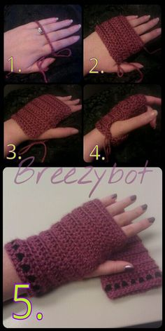 Breezybot: FREE PATTERN/TUTORIAL Fingerless Gloves
