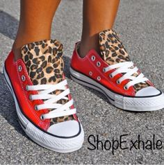 Converse with cheetah! Can only find these kind online, love them.