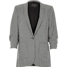 Black dogtooth print blazer $110.00