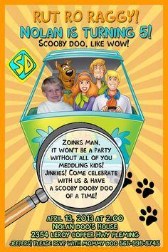 Scooby Doo BIRTHDAY PARTY Photo INVITATIONS & ...