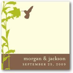 Hummingbird Garden - Personalized Gift Tag Stickers - Jenny Romanski - Nutmeg - Brown : Front