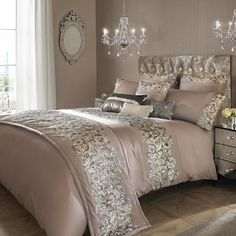icu ~ Pin on Bedding ideas ~ 27 Sep 2019 - Kylie Minogue Bedding Range Designer PETRA NUDE Matching Accessories Available in Home, Furniture & DIY, Bedding, Bed Linens & Sets Bed Linen Sets, Bed Sets, Glam Bedroom, Home Bedroom, Bedroom Ideas, Silver Bedroom Decor, Glitter Bedroom, Mirrored Bedroom, Bedroom Modern