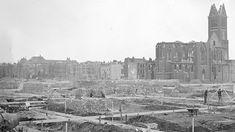 Den Haag na het bombardement op Bezuidenhout   Archieffoto