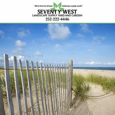 As well as looking iconic #SandFencing plays an important role in coastal communities particularly in inclement weather. #SeventyWest #LandscapeSupply always have a huge variety of #LandscapingMaterials in stock on our lot for any #landscaping job that you might have in mind so stop by this week! We are based at 4540 Arendell Street #MoreheadCity #NorthCarolina and are open Monday through Friday 8am-4pm.