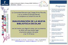 Invitación para la inauguración de la nueva biblioteca