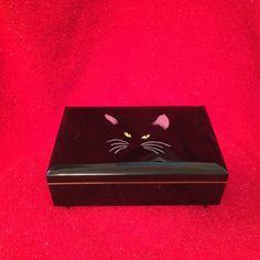 Vintage Cat Music Box Otagiri Japan Plays Memory by NeutralNellies