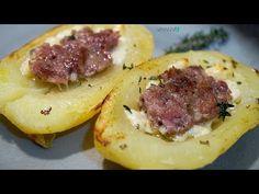 444 - Patate al forno con salsiccia...ecco a voi un'altra miccia! (ricetta gustosa facile e veloce) - YouTube Baked Potato, Camembert Cheese, Potatoes, Baking, Ethnic Recipes, Antipasto, Carne, Drink, Youtube