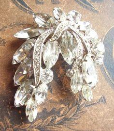 drippy rhinestone brooch