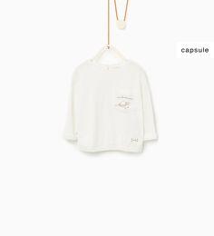 Imagem 1 de T-shirt bolso bordado da Zara