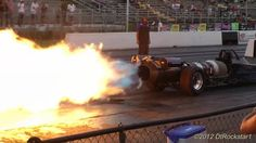 Jet Car: almost 300 Miles Per Hour!.   //Love jet cars, this was taken at a nice angle, from the back for a change EL//