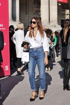 White Shirt + Jeans, Paris