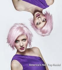 Sophie from ANTM. Love her hair, even in pink.