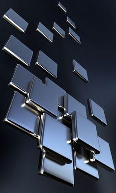 Chrome Squares Wallpaper