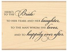 The Bride... - Rubber Stamp