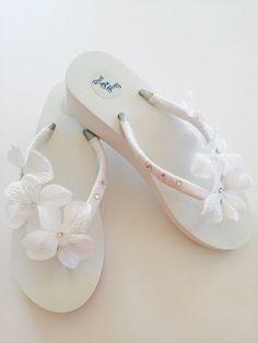 c7378dc42 Bride Flip Flops Wedges Wedding Flip Flops Shoes Sandals Bridesmaid Flip  flops Beach Wedding Flip Flops Bride Gifts  flipflopsCraf…
