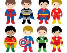 Boys Superhero Costumes Clipart 1 Boy Superheroes by LittleMoss Superhero Costumes For Boys, Superhero Texts, Superhero Kids, Superhero Characters, Spiderman Kids, Superman Clipart, Superhero Clipart, Design Blog, Web Design