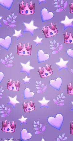 Fondo Con Emoji Para Whatsapp En Tono Violeta Whatsapp Wallpaper