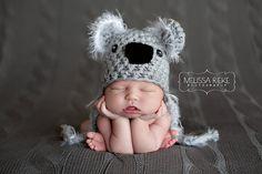Koala Bear Hat Gray Fuzzy Newborn by BeautifulPhotoProps on Etsy, $44.00