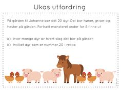 ukas utfordring Kids Education, Norway, Classroom, Teaching, Activities, Maths, School, 2nd Grade Class, First Class