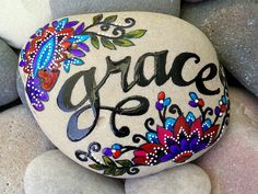 Hey, I found this really awesome Etsy listing at https://www.etsy.com/listing/246582179/grace-painted-rocks-painted-stones-sandi