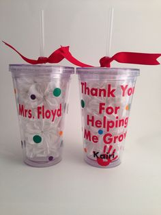 Thank You Tumbler for a teacher,babysitter, daycare provider, camp counselor, mentor on Etsy, $11.00