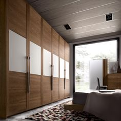 Bedroom Design: 59 ideas wardrobe wood finish and glass panels Wooden Wardrobe, Wardrobe Furniture, Wardrobe Design Bedroom, Bedroom Furniture Design, Bedroom Wardrobe, Bedroom Ideas, White Wardrobe, Wadrobe Design, Bedroom Door Handles