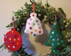 Manualidades navideñas con fieltro: fotos ideas originales - Decoraciones navideñas hechas con tus manos