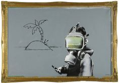 Banksy - Gas Mask Boy (I wanted to get this when I saw it last summer at the Sotheby's pre-auction exhibition in London. Unfortunately, I didn't have 60 thousand pounds on me.)